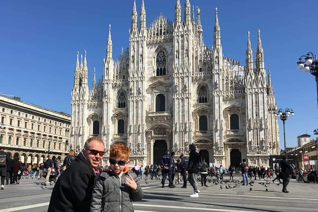 FlipFlopGlobetrotters.com - Blog: 6 top things to do in Milan Italy with kids - Duomo di Milano