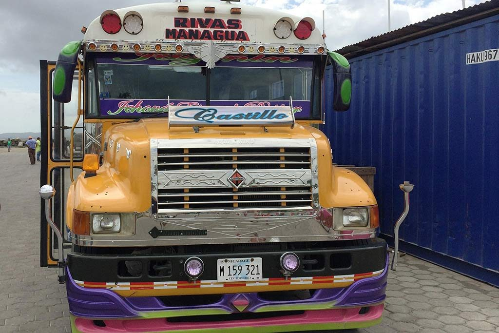 FlipFlopGlobetrotters.com - Blog: Can you still travel with kids - chicken buses in Nicaragua