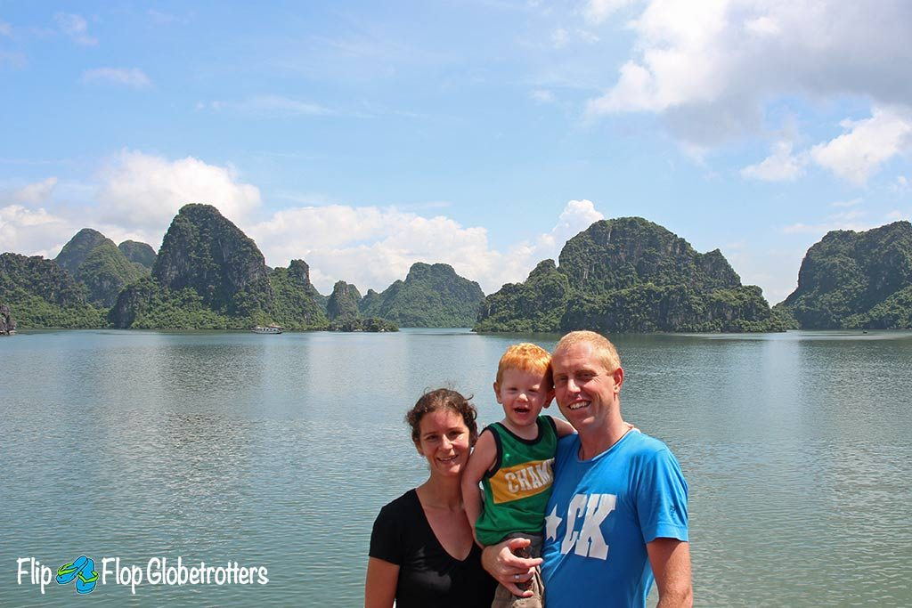 FlipFlopGlobetrotters.com - Blog: Can you still travel with kids - Halong Bay Vietnam