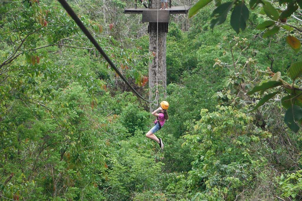 FlipFlopGlobetrotters.com - Blog: Can you still travel with kids - ziplining Cambodia