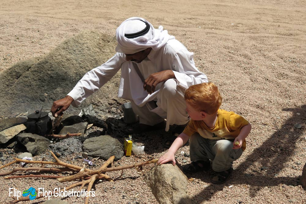FlipFlopGlobetrotters.com - Blog: Is it worth it to travel with an infant - Bedouin in Dahab