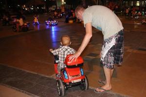 Jace at the Makassar Losari Beach boulevard playground