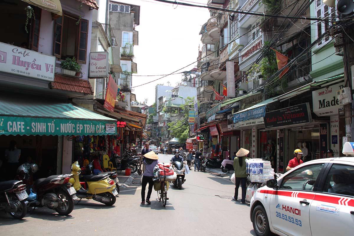 Another cute street in Hanoi's Old Quarter