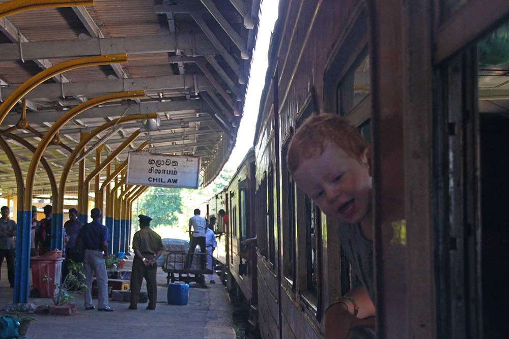 Jace loves the train! Good thing train rides are ridiculously cheap here in Sri Lanka