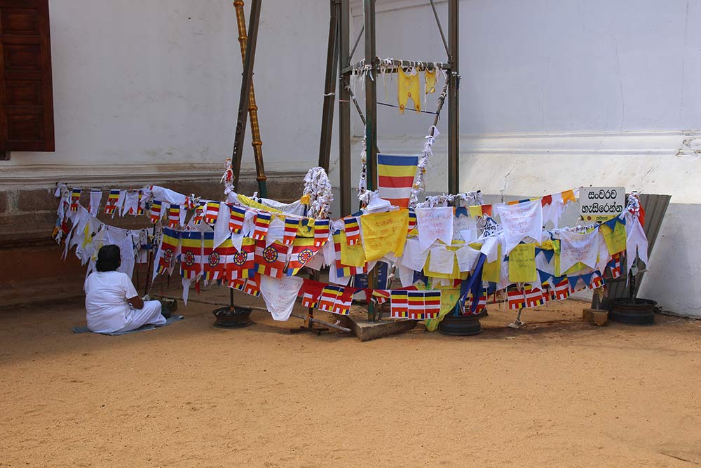 Buddhist prayer flags at one of the temples in Anuradhapura