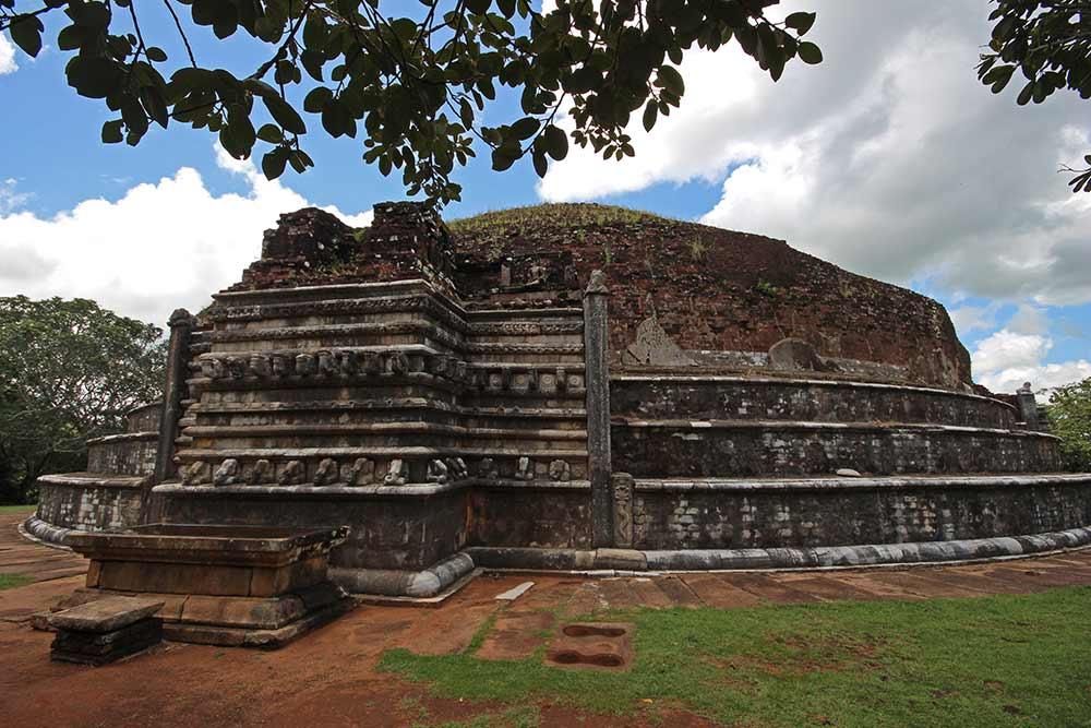 Kantaka Cetiya Vaahalkada at Mihintale near Anuradhapura