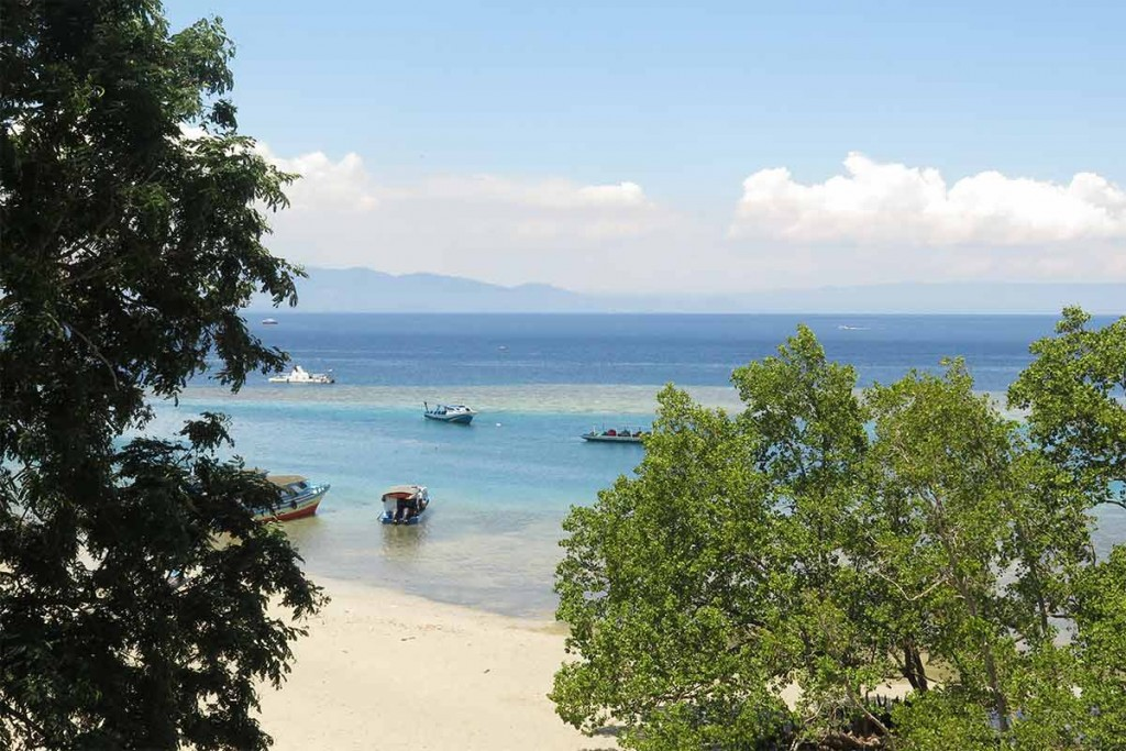 Beautiful view from our balcony at Happy Gecko Resort on Bunaken