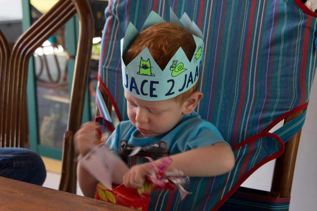 Our little world traveler celebrated his second birthday in Amurang, North Sulawesi