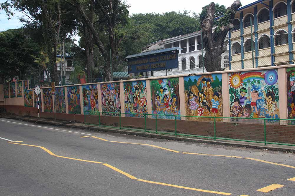 In many primary schools we see beautifully painted outside walls.