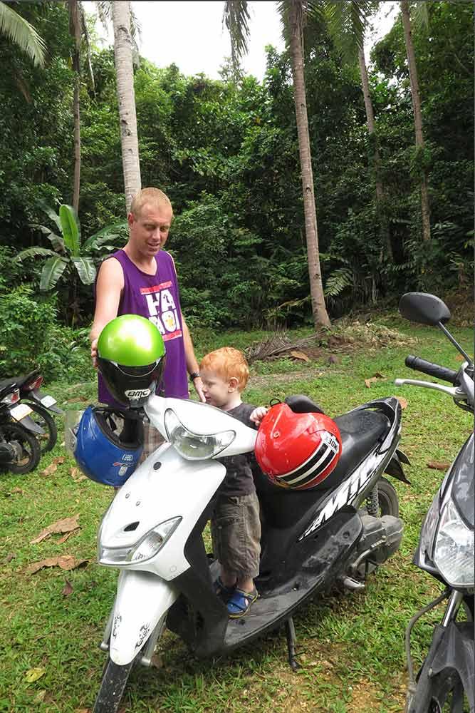 Jace loves motorbikes :-)
