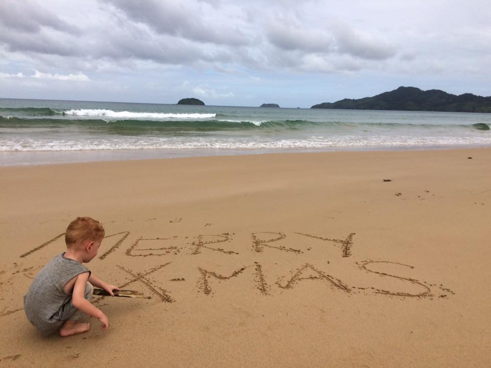 FlipFlopGlobetrotters.com - Philippines with a toddler - Merry Christmas on Duli Beach!