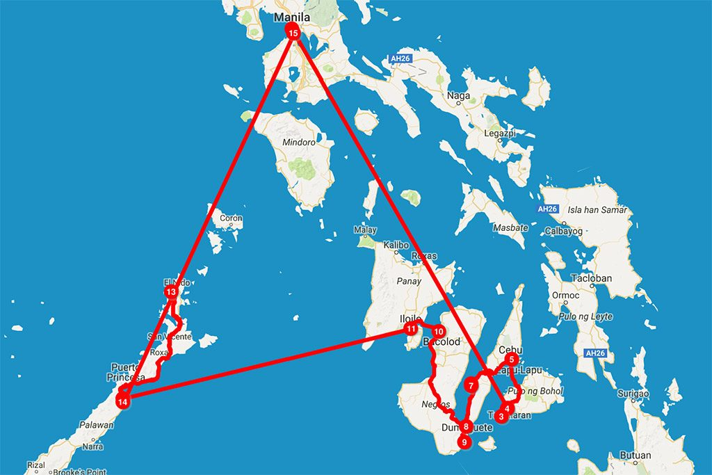 FlipFlopGlobetrotters.com - 6 weeks in the Philippines - map