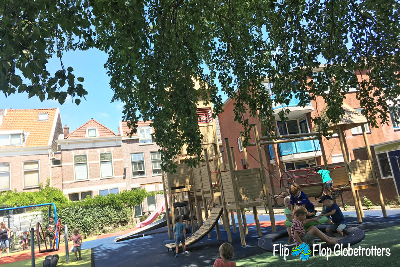 FlipFlopGlobetrotters.com - things to do in Haarlem with kids - playground Glasblazers