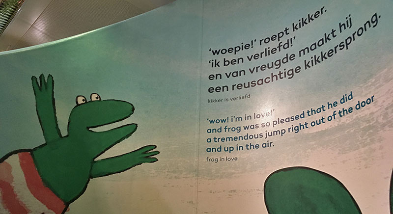 FlipFlopGlobetrotters.com - Blog: Children's Book Museum The Hague - I am Frog