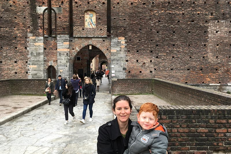 FlipFlopGlobetrotters.com - Blog: 6 top things to do in Milan Italy with kids - Castello Sforzesco