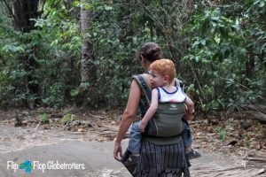 FlipFlopGlobetrotters.com - blog: review manduca baby carrier - carrying our son in Tangkoko NP