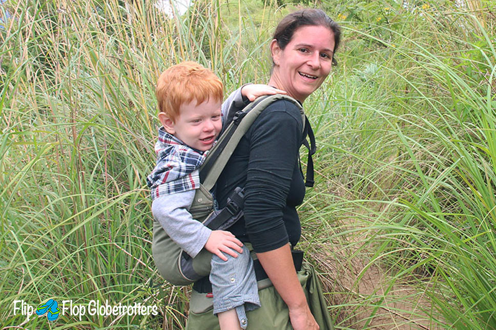 FlipFlopGlobetrotters.com -blog - review manduca baby carrier - hiking is easier with a baby carrier