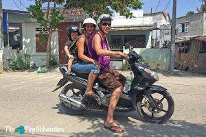 FlipFlopGlobetrotters.com - Blog: traveling with an infant - family on motorbike
