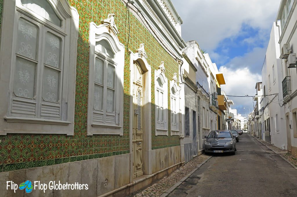 FlipFlopGlobetrotters.com - things to do in Olhao with kids - Portuguese tiled houses in Olhao old town