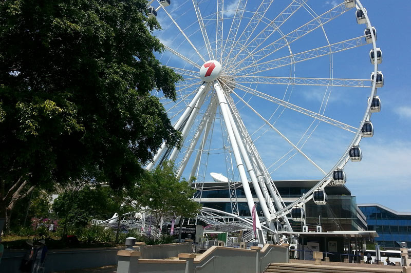 FlipFlopGlobetrotters.com - blog: Brisbane with kids - Brisbane Wheel