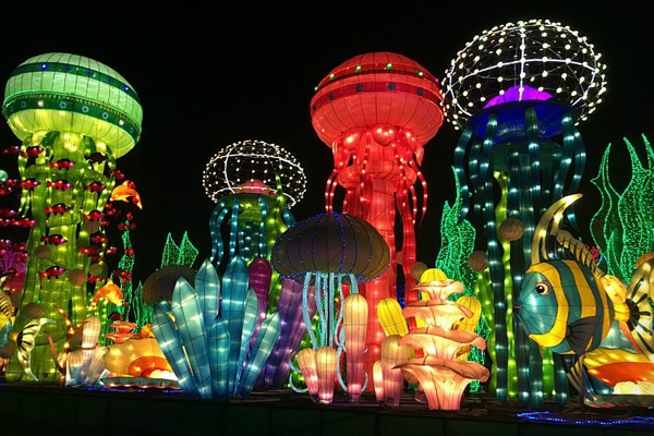FlipFlopGlobetrotters.com - Best places to visit in the Middle East with kids - Dubai with kids Garden Glow