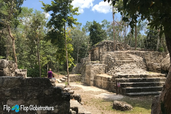 FlipFlopGlobetrotters - Coba Mayan ruins - discoveries in the jungle