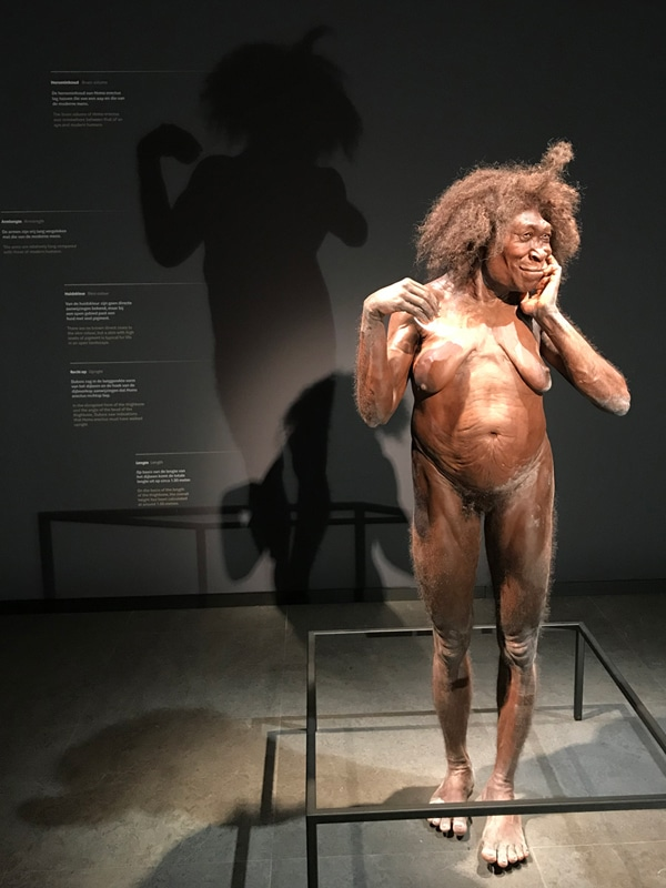 FlipFlopGlobetrotters - prehistoric woman at the Early Humans Gallery