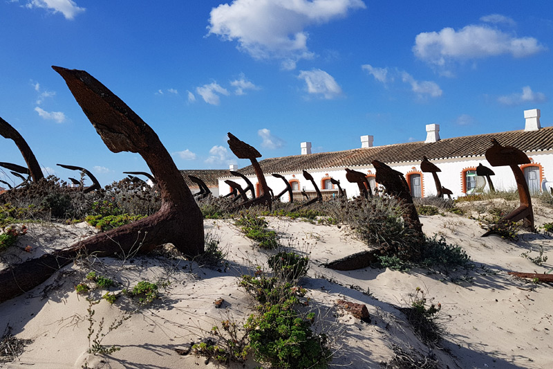 best algarve towns for families - Tavira - Barril Beach anchors