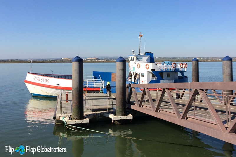 River ferry from VRSA to Ayamonte - what to do in Algarve with kids