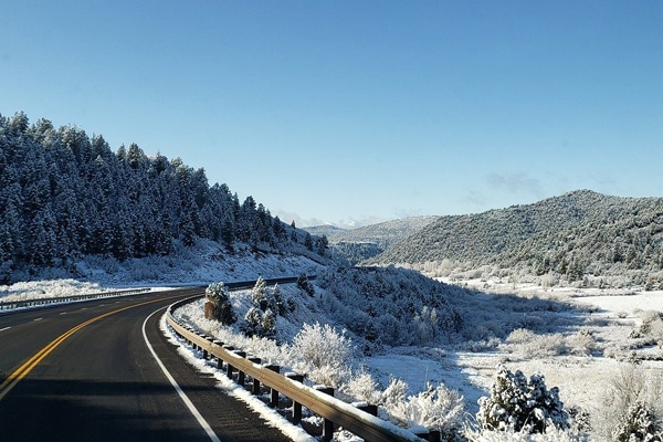 Driving in the winter / winter road