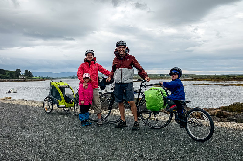 Cycling tour in Ireland with kids
