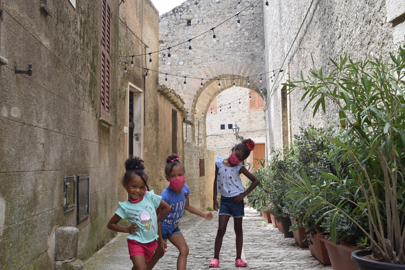 Erice Sicily with kids