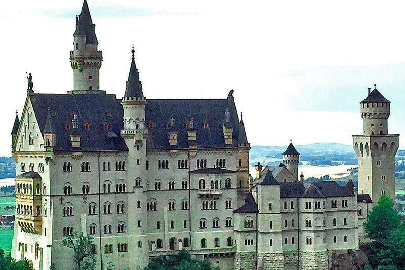 Neuschwanstein Castle with kids